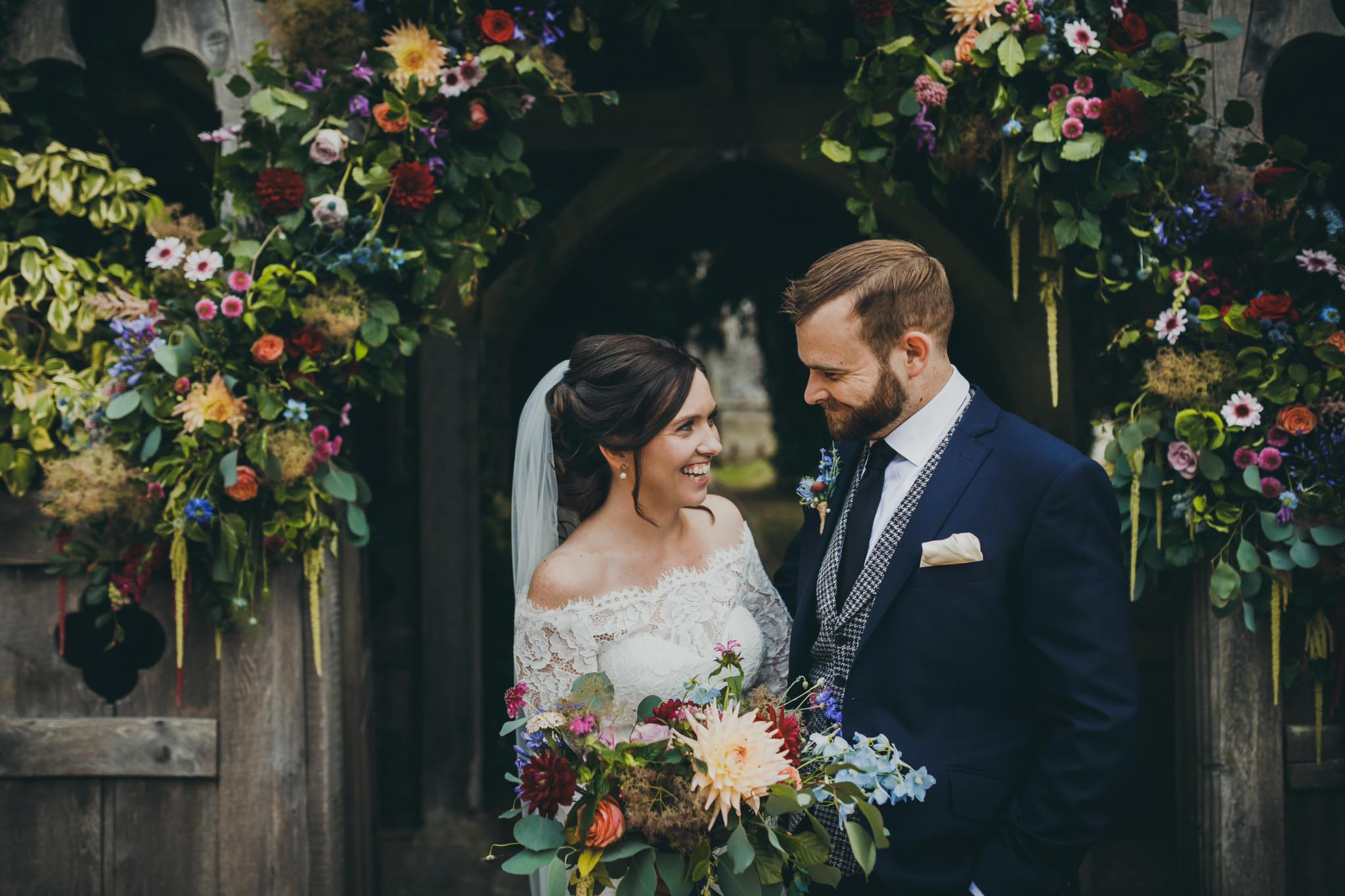 Bridal Hair in Hampshire | Stunning Hampshire bride with hair by Michelle Crosser