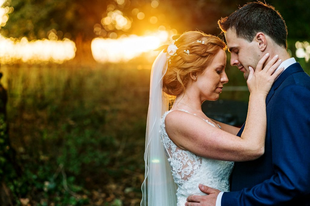Bride styled by Bridal Hair in Hampshire with groom
