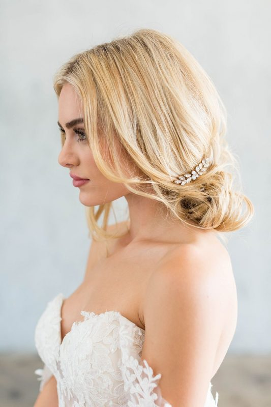 Brides and Hairpins Amber Comb Set