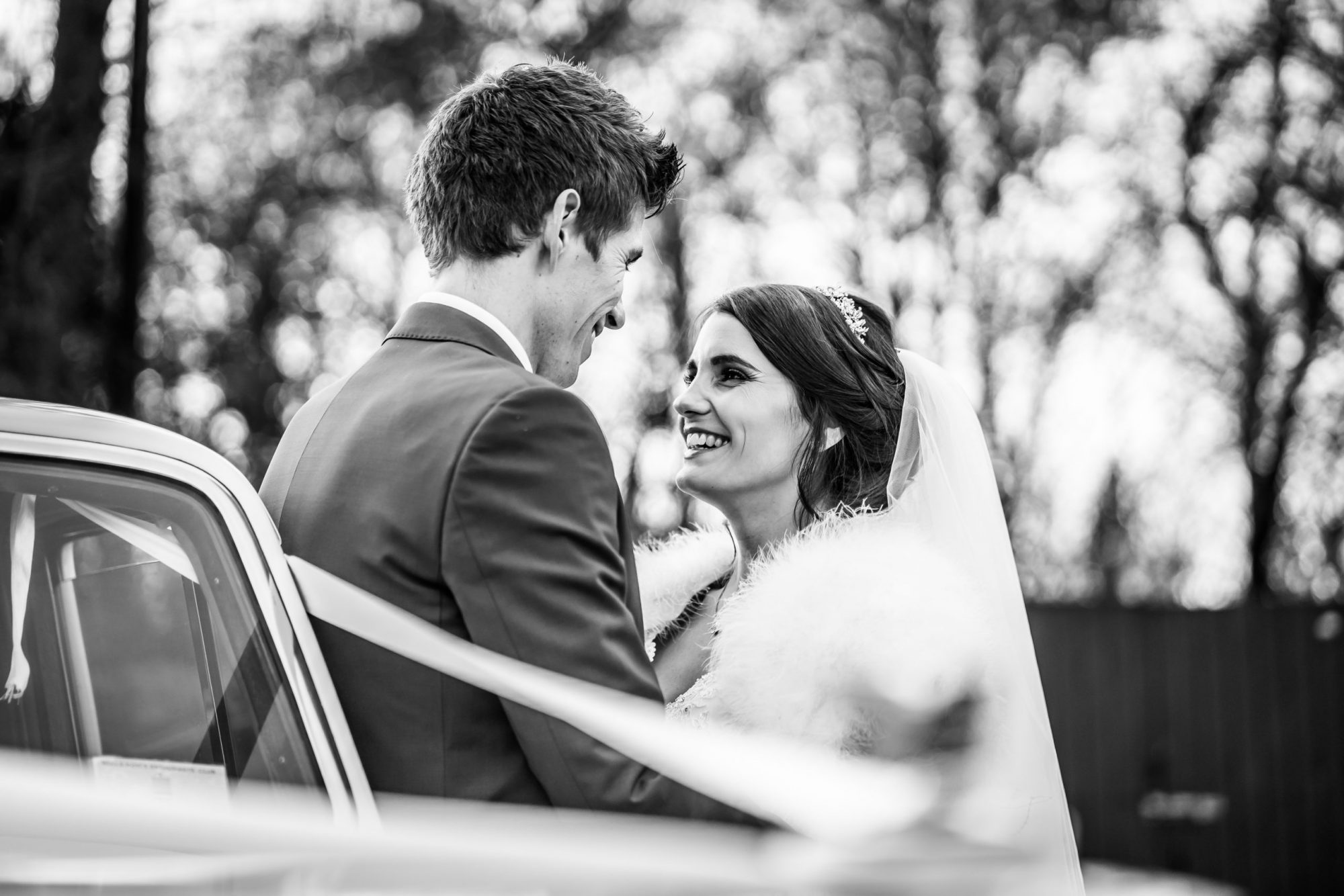 Bride and groom styled by Bridal Hair in Hampshire