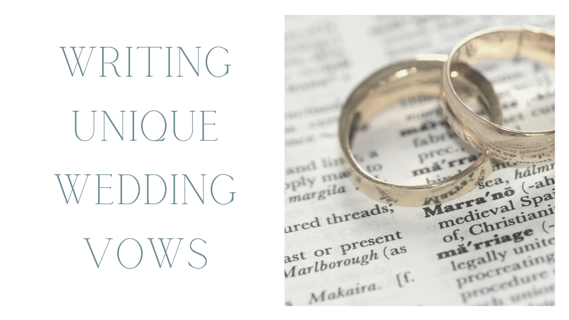 Writing wedding vows blog post by Bridal Hair in Hampshire