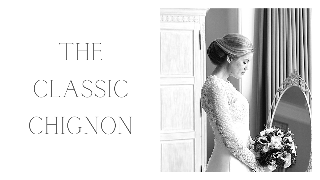 Chignon bridal hairstyle by Bridal Hair in Hampshire