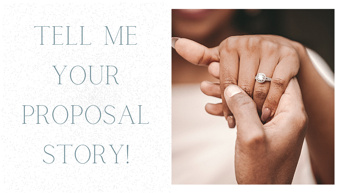 Wedding proposal story blog post by Bridal Hair in Hampshire